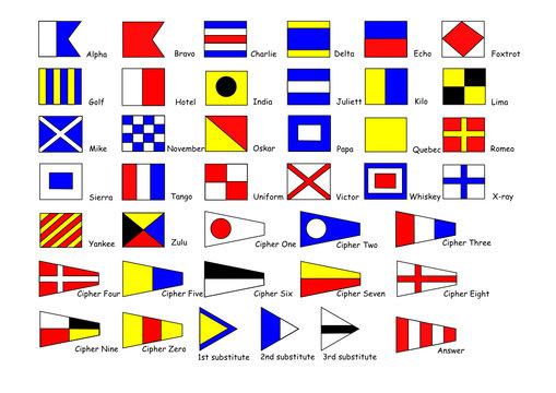International signal-flags