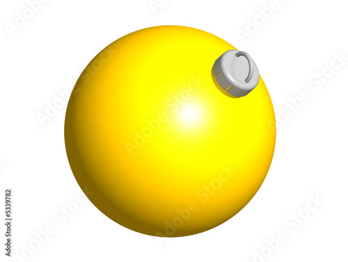 boule de no l jaune 3d photo libre de droits sur la banque d 39 images image 5339782. Black Bedroom Furniture Sets. Home Design Ideas