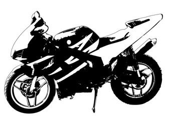 Poster Motorcycle motorbike grunge effect