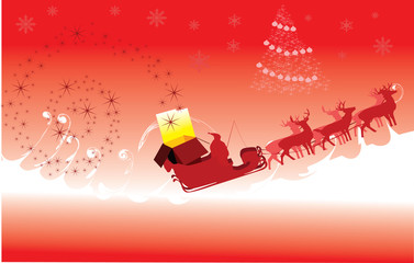 sleigh and present