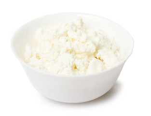 Bowl with Curd on white background. Food image series