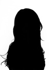 womans silhouette isolated