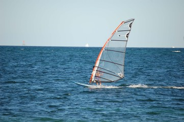 Woman Windsurfer