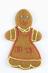 Female gingerbread man cookie.
