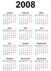 2008 German calendar