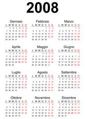 2008 Italian calendar