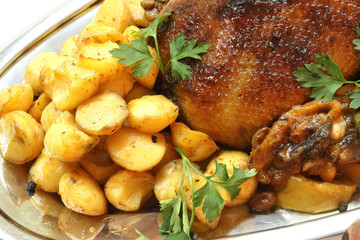 Delicious turkey with potatoes - wonderful meal for dinner