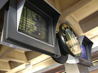 Fotobehang Treinstation Ecrans de gare