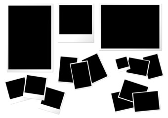 Photo paper templates different formats sizes and orientations