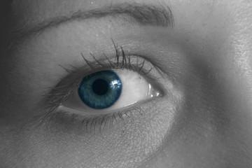 woman's eye mixed photo