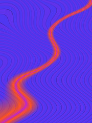 red wavy curve, abstract road
