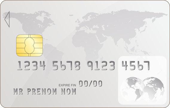 Carte bancaire, illustration vectorielle