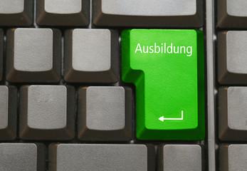 Tastatur mit Ausbildung Taste