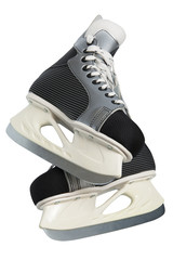 New and modern skates on a white background