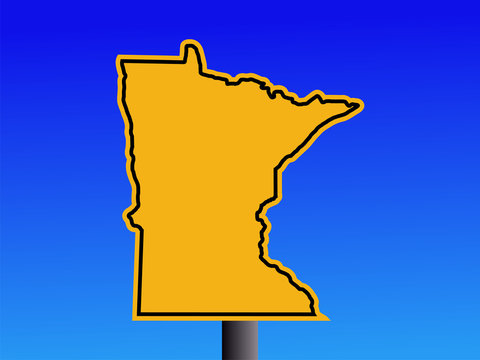 Minnesota warning sign