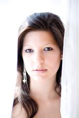 Helles Bild mit Gesicht von jungem Mädchen aus Österreich