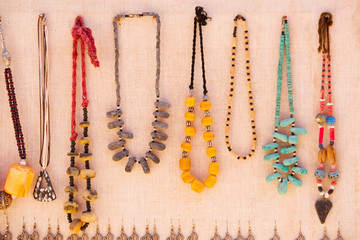 traditional berber neckless in the street market