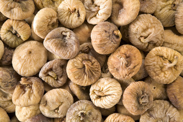 Textured background of dried figs