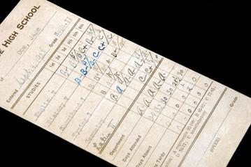 1928 Report Card