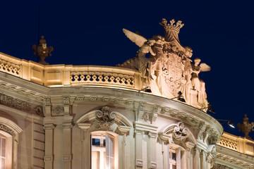 Detail of the Casa de America in Madrid, Spain