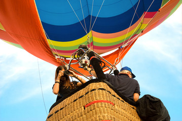 photographer on hot air balloon