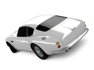 Silvery Classical Sports Car
