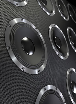 Bass speakers background