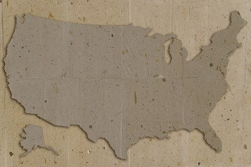 usa map vintage stone texture  looks like old