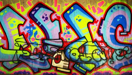 urban graffiti wall