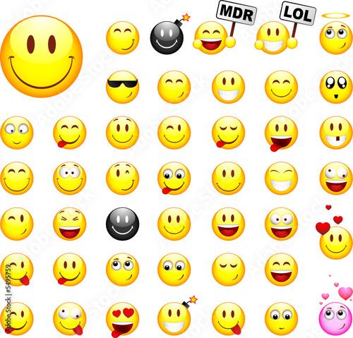Lot de smileys image vectorielle fichier vectoriel libre de droits sur la banque d 39 images - Image de smiley a imprimer ...