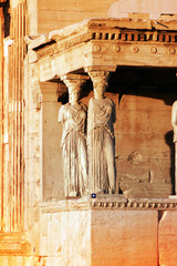Athens, Greece - Caryatids of the Acropolis.