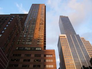 Wolkenkratzer in manhattan new york usa