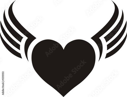 Dije De Corazon Con Alas Stock Image And Royalty Free Vector Files