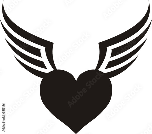 Heart Flyer Tattoo Stock Image And Royalty Free Vector Files On