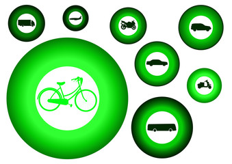 green donut featuring transport