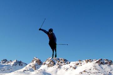 Salto jump ski