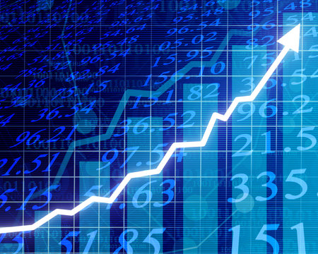 Electronic stock numbers going up