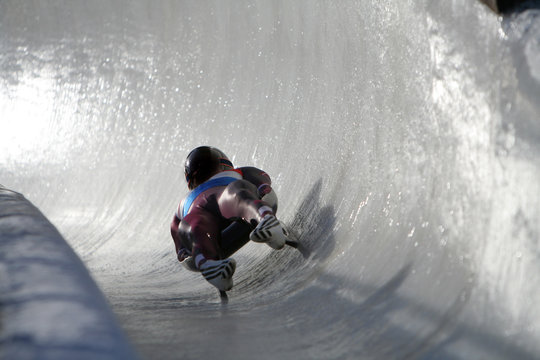 Boblseigh in Sigulda, Latvia, Europe - very popular winter sport