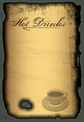 Speisekarte Kaffekarte International