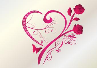 Valentinstag Herz Brilliant Rosen