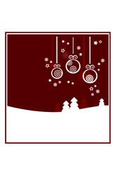 Dekorativer Winter- / Weihnachtshintergrund (rot), III