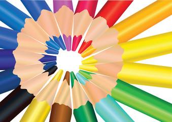 vector image color pencils