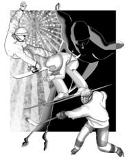 conceptual illustration of winter sport activities