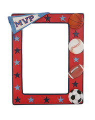 A sports picture frame