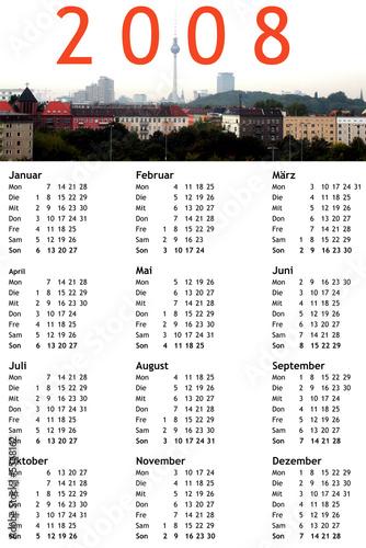 Kalender Mit Berlin Panorama Calendar With Berlin Panorama Stock