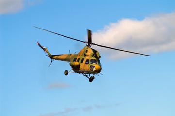 khaki helicopter