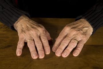 resting old hands