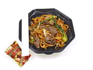 chinesisches rindfleisch mit nudeln
