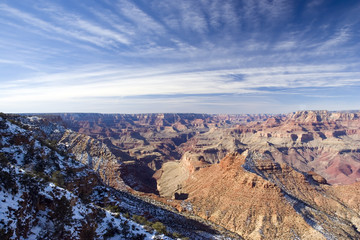 View from Watch Tower on Gramd Canyon in Winter, Arizona