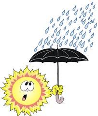 Sol debaixo de chuva